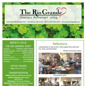 March The Rio Grande Gracious Retirement Living Newsletter