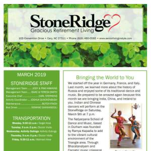 March Stoneridge Gracious Retirement Living Newsletter