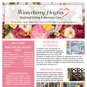 May Winterberry Heights Assisted Living and Memory Care newsletter