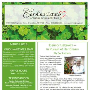 March Carolina Estates Newsletter