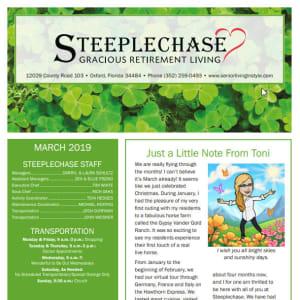 March Steeplechase Retirement Residence Newsletter