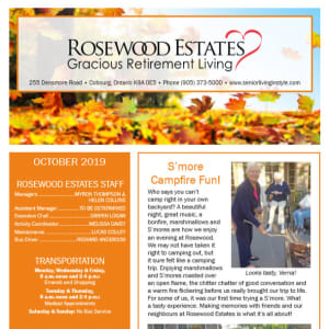 October Rosewood Estates Newsletter