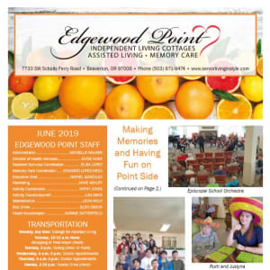 June Edgewood Point Assisted Living Newsletter