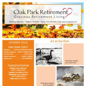 October Oak Park Retirement Newsletter