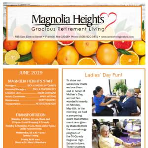 June Magnolia Heights Gracious Retirement Living Newsletter