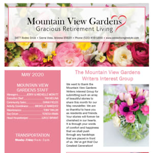 May Mountain View Gardens newsletter