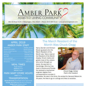 April Amber Park Newsletter