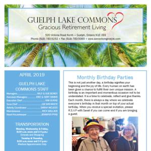 April Guelph Lake Commons Newsletter