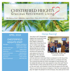 April Chesterfield Heights Newsletter