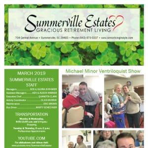 March Summerville Estates Gracious Retirement Living Newsletter