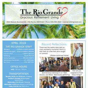 April The Rio Grande Gracious Retirement Living Newsletter