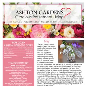 May Ashton Gardens Gracious Retirement Living newsletter