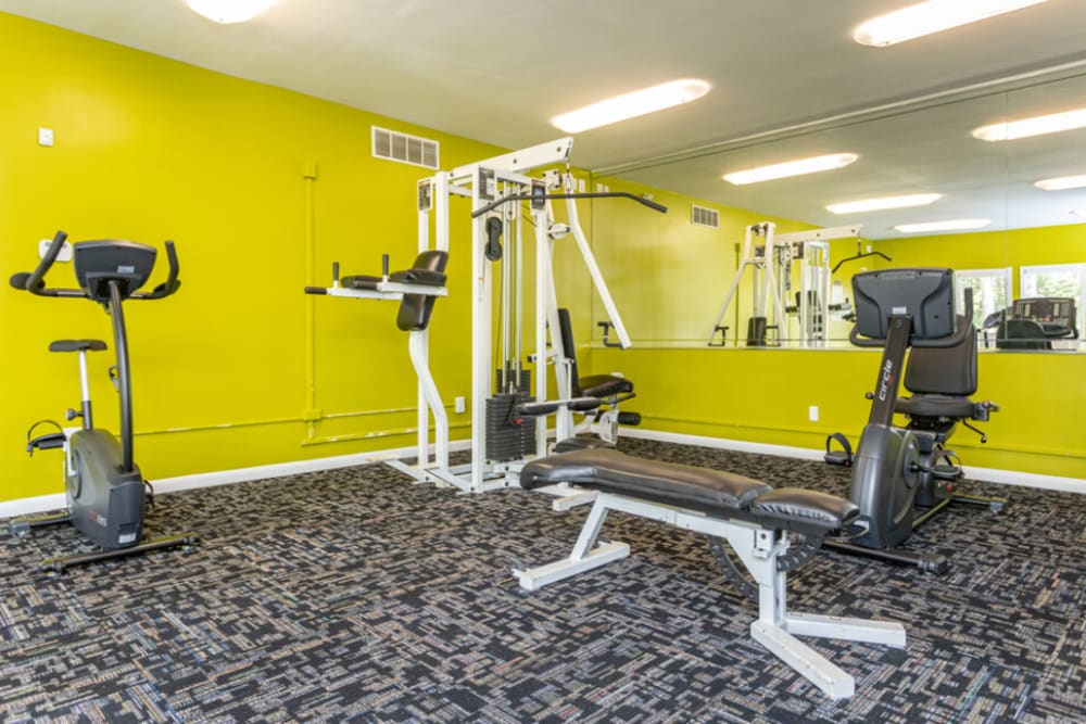 Fitness center at The Abbey at Riverchase in Hoover