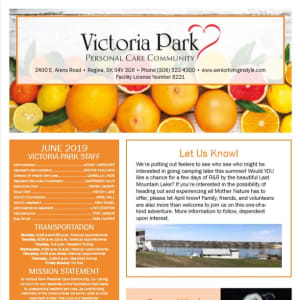 June Victoria Park Personal Care Home Newsletter