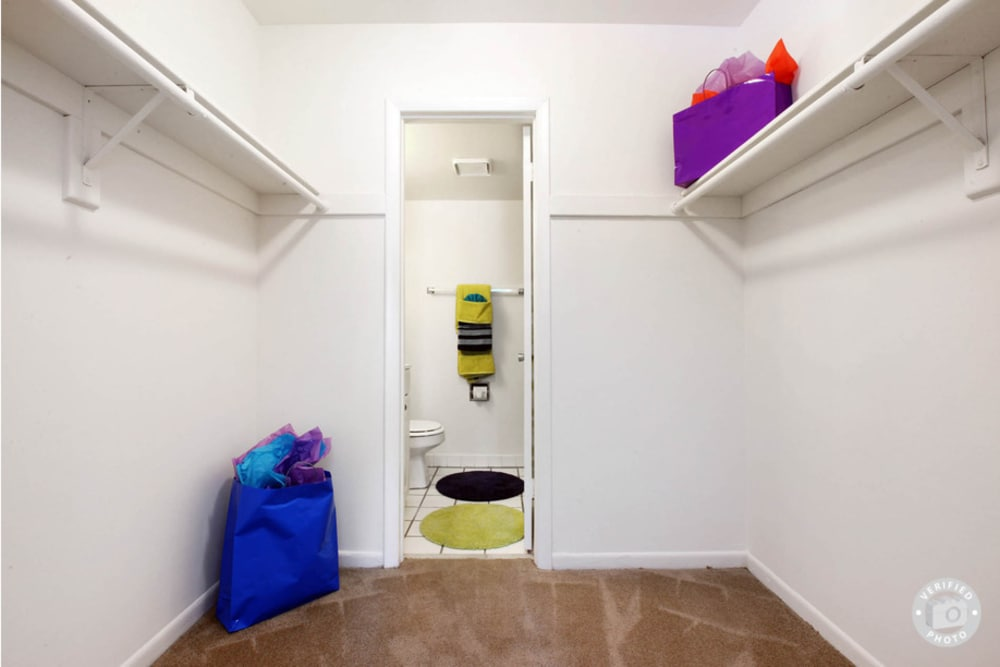 Spacious walk-in closets in Lime Tree Village