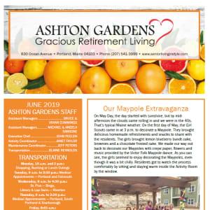June Ashton Gardens Gracious Retirement Living Newsletter