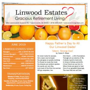 June Linwood Estates Gracious Retirement Living Newsletter