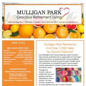 June Mulligan Park Gracious Retirement Living Newsletter