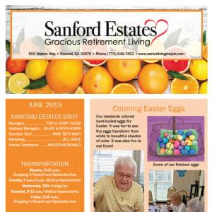 June Sanford Estates Gracious Retirement Living Newsletter