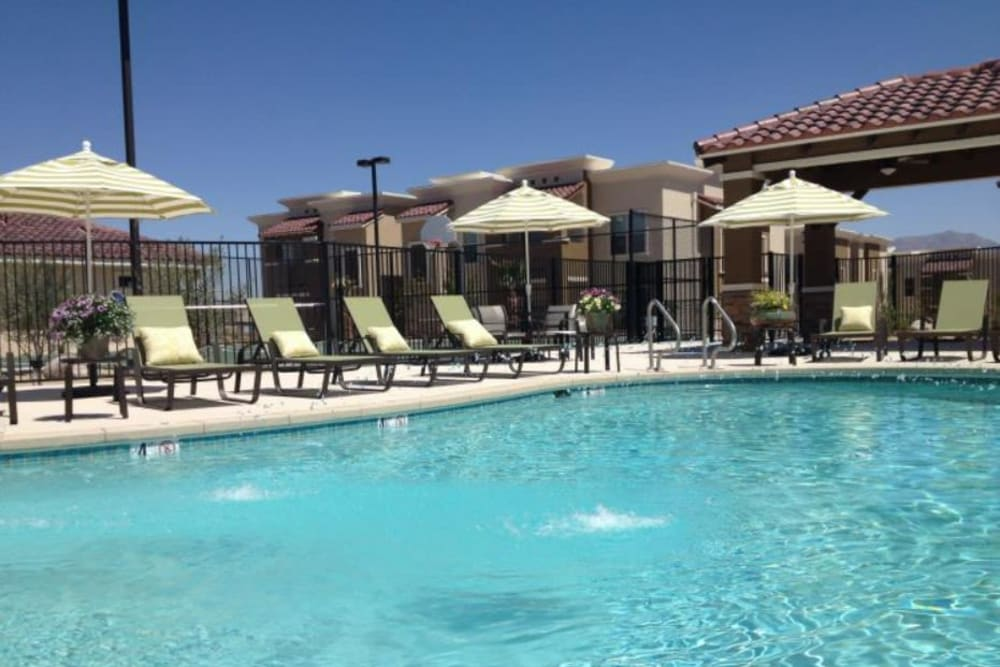 Model swimming pool at Sonoma Palms in Las Cruces, New Mexico