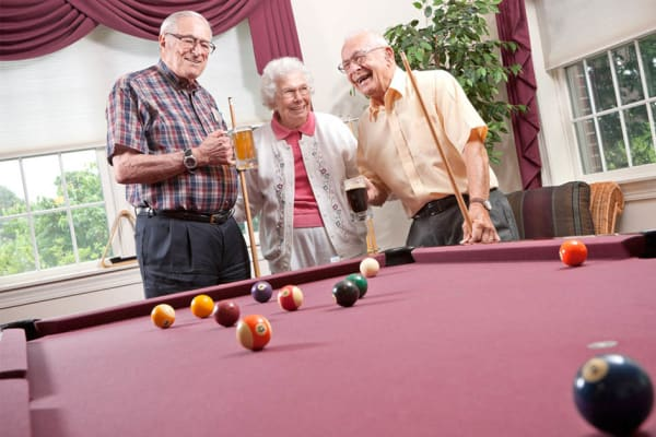 Residents and activities at Senior Commons at Powder Mill in York, Pennsylvania