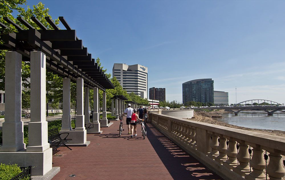 Waterfront walk in Columbus OH