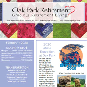 February Oak Park Retirement newsletter