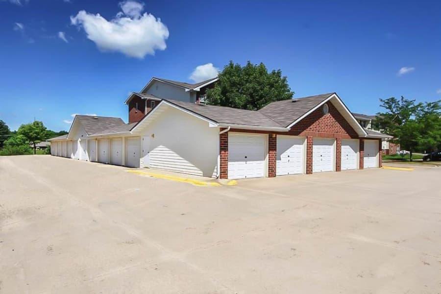 Garages at Regency Heights in Iowa City, Iowa