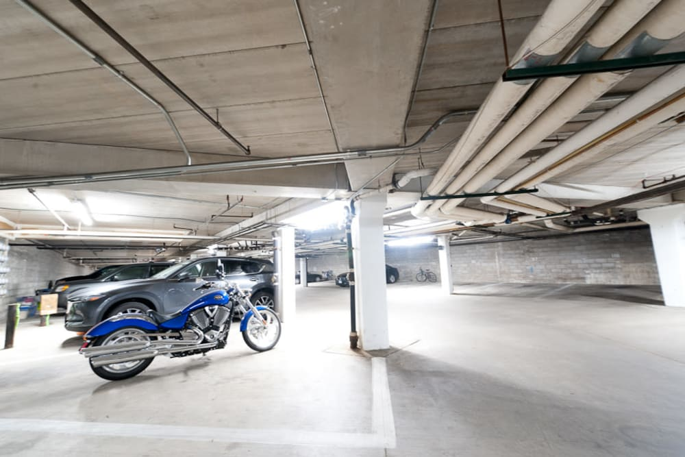 Heated underground parking at Pointe West Apartment Homes in West Des Moines, Iowa