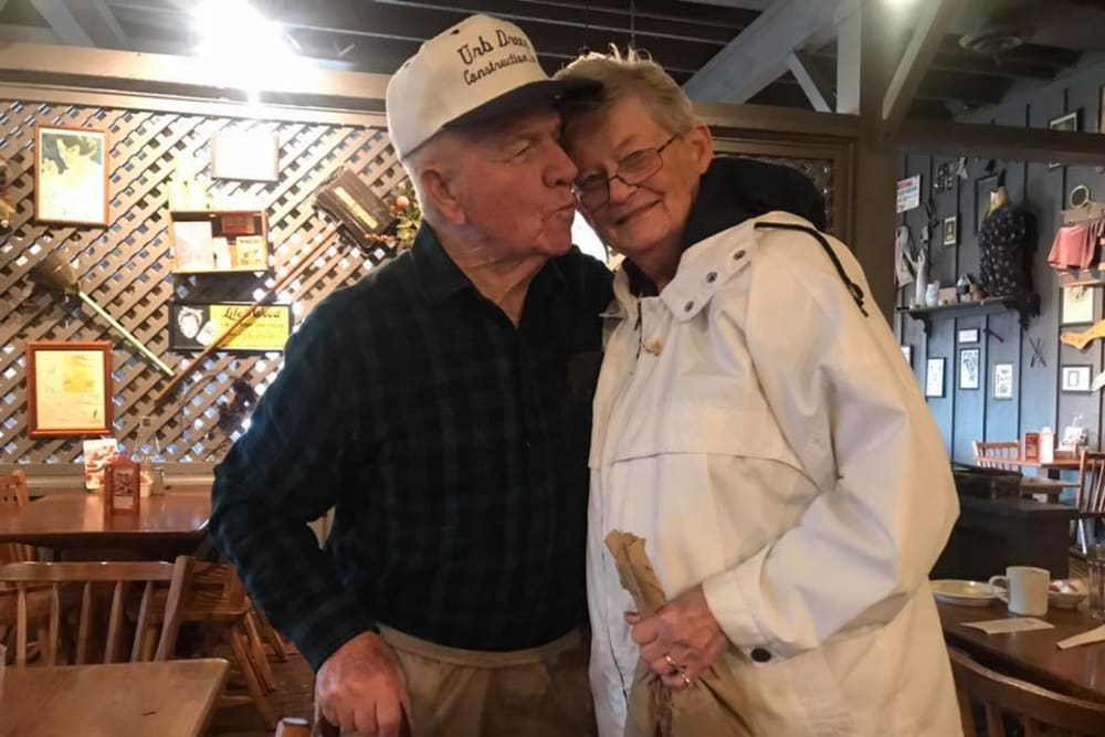 A loving couple at Landings of Sidney in Sidney, Ohio