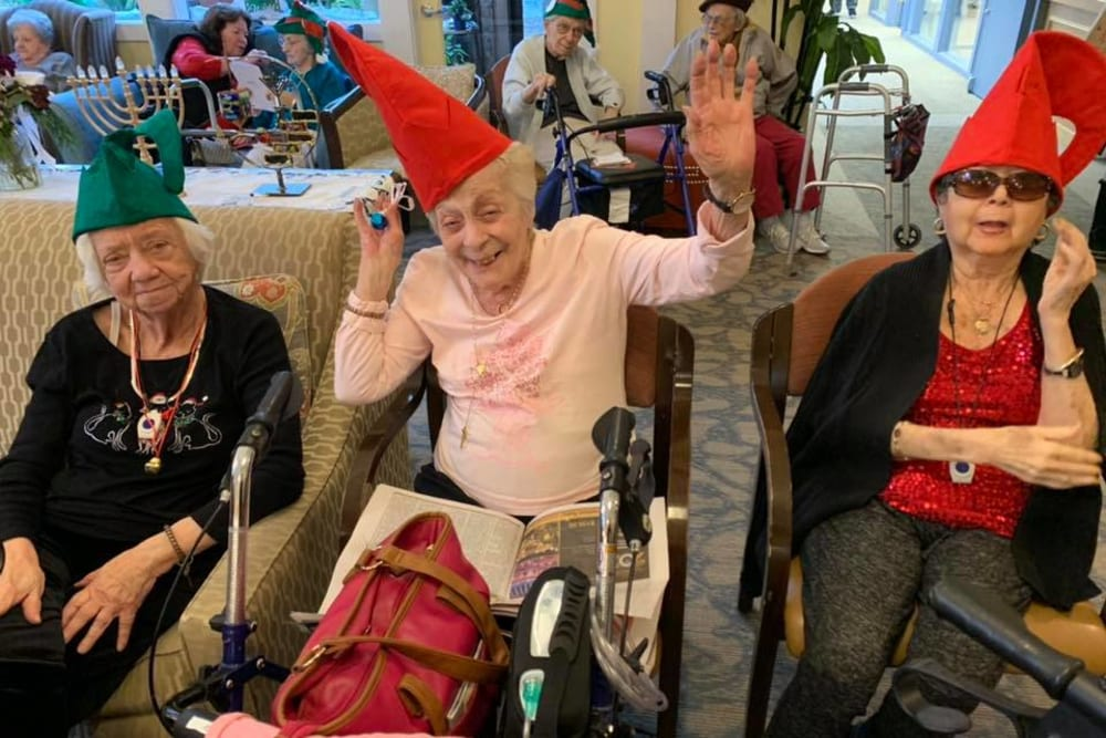 Residents having fun at The Country House in Westchester in Yorktown Heights, New York