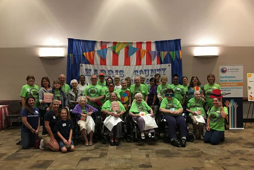 Residents at fair at Parsons House Cypress in Cypress, Texas