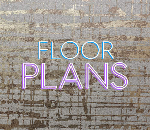 Flip card border for floor plans