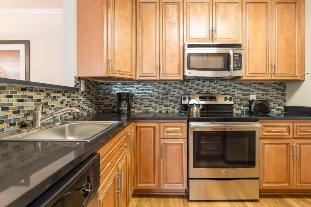 Spacious kitchen at Abbotts Run in Alexandria, Virginia.