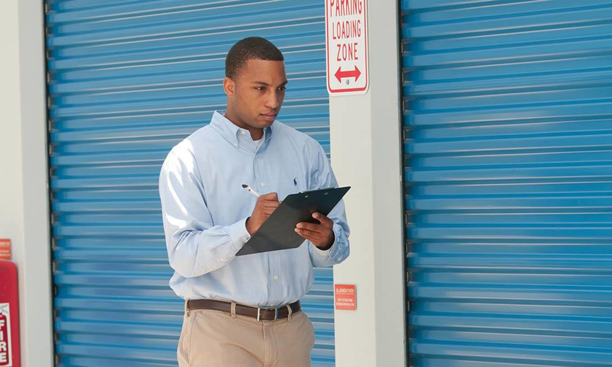Daily property inspection by the manager at Virginia Varsity Storage in Salem, Virginia