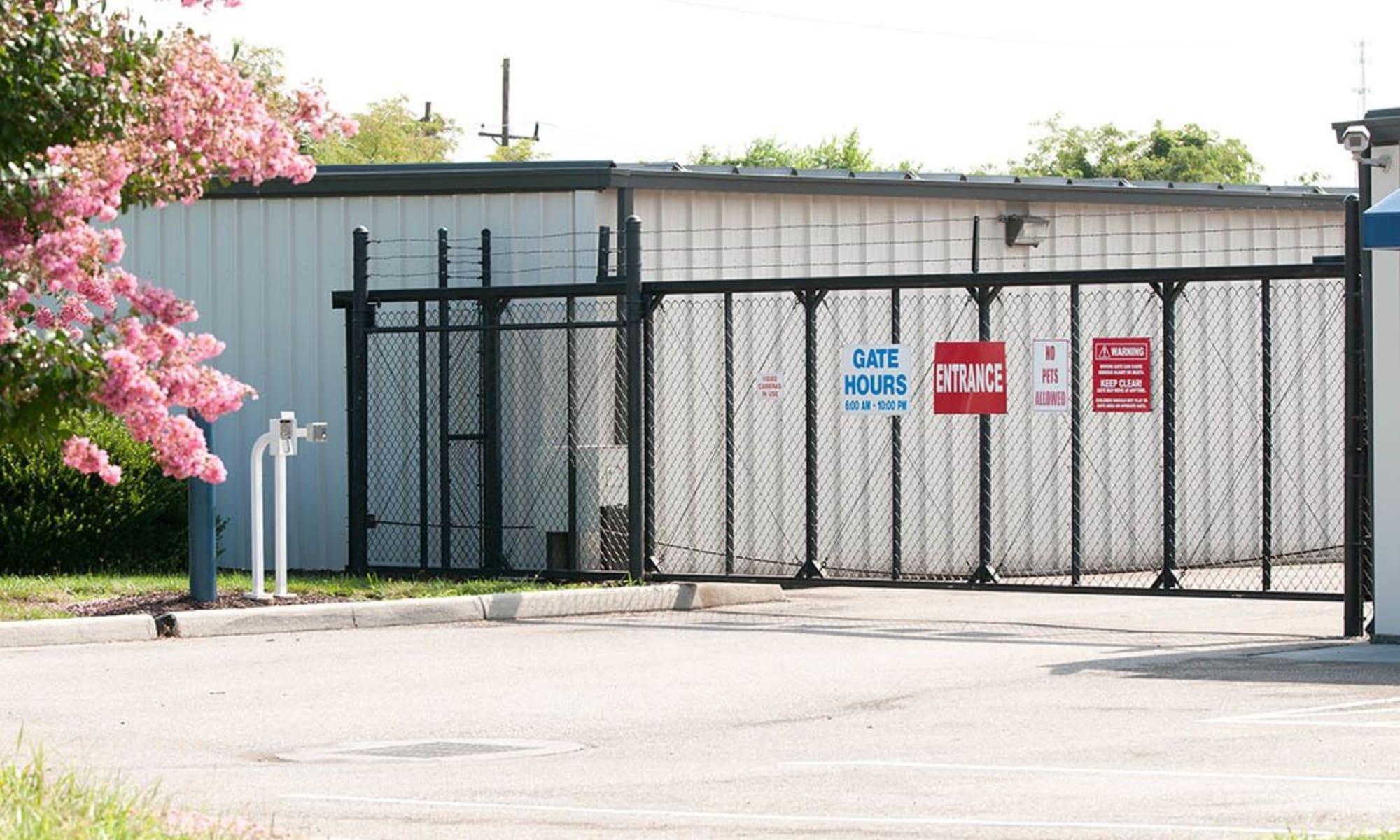 Gates provide security at Virginia Varsity Storage in Salem, Virginia