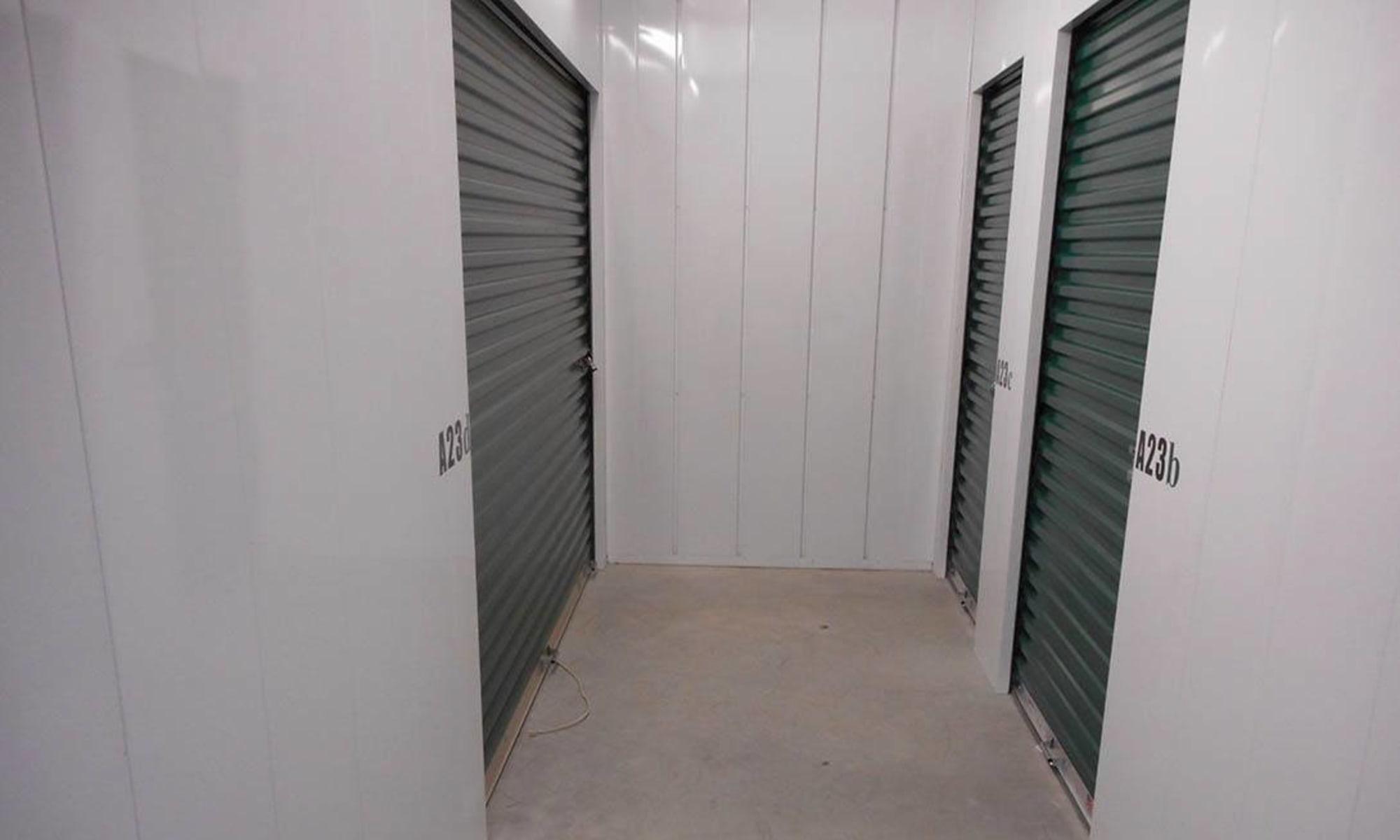 Indoor units at Virginia Varsity Storage in Christiansburg, Virginia