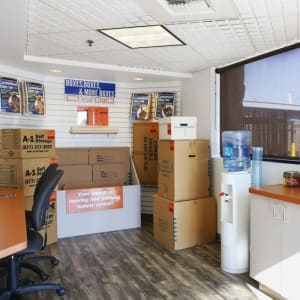 Boxes available at A-1 Self Storage in Anaheim, California