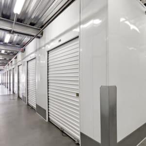 Brightly lit indoor storage units in San Diego, California at A-1 Self Storage