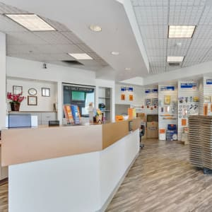 The leasing office at Paramount, California at A-1 Self Storage