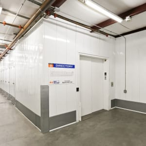 High ceilings and a freight elevator at A-1 Self Storage in La Mesa, California