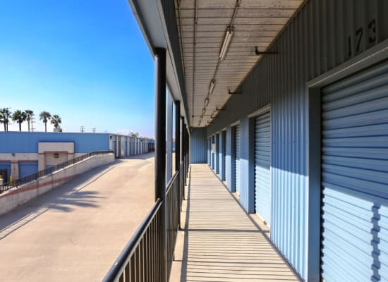 Convenient outdoor storage units at A-1 Self Storage in Anaheim, California