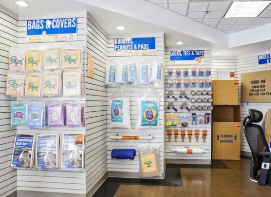 Moving and packing supplies available at A-1 Self Storage in Belmont, California