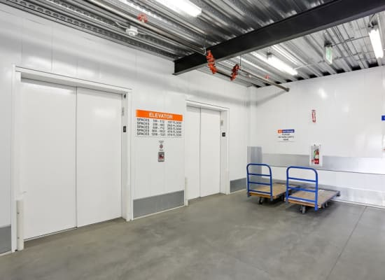 Moving carts and dollies available at A-1 Self Storage in San Diego, California
