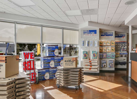 Packing and moving supplies available at A-1 Self Storage in San Jose, California