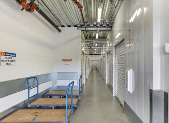Carts available to customers at A-1 Self Storage in San Juan Capistrano, California