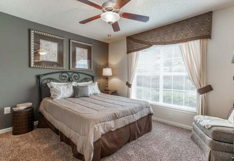 Spacious master bedroom at Monterey Village in Jonesboro, Georgia