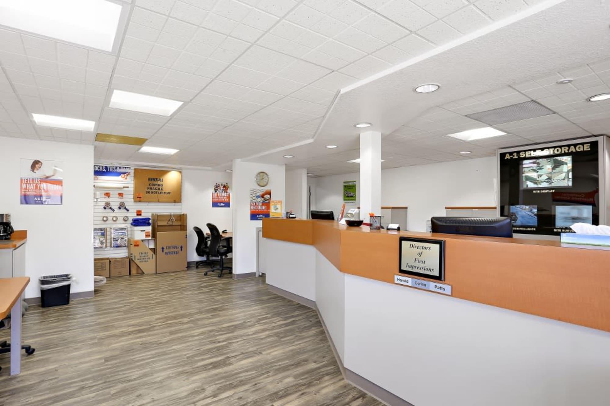 Large Self Storage Office at A-1 Self Storage in San Diego, CA