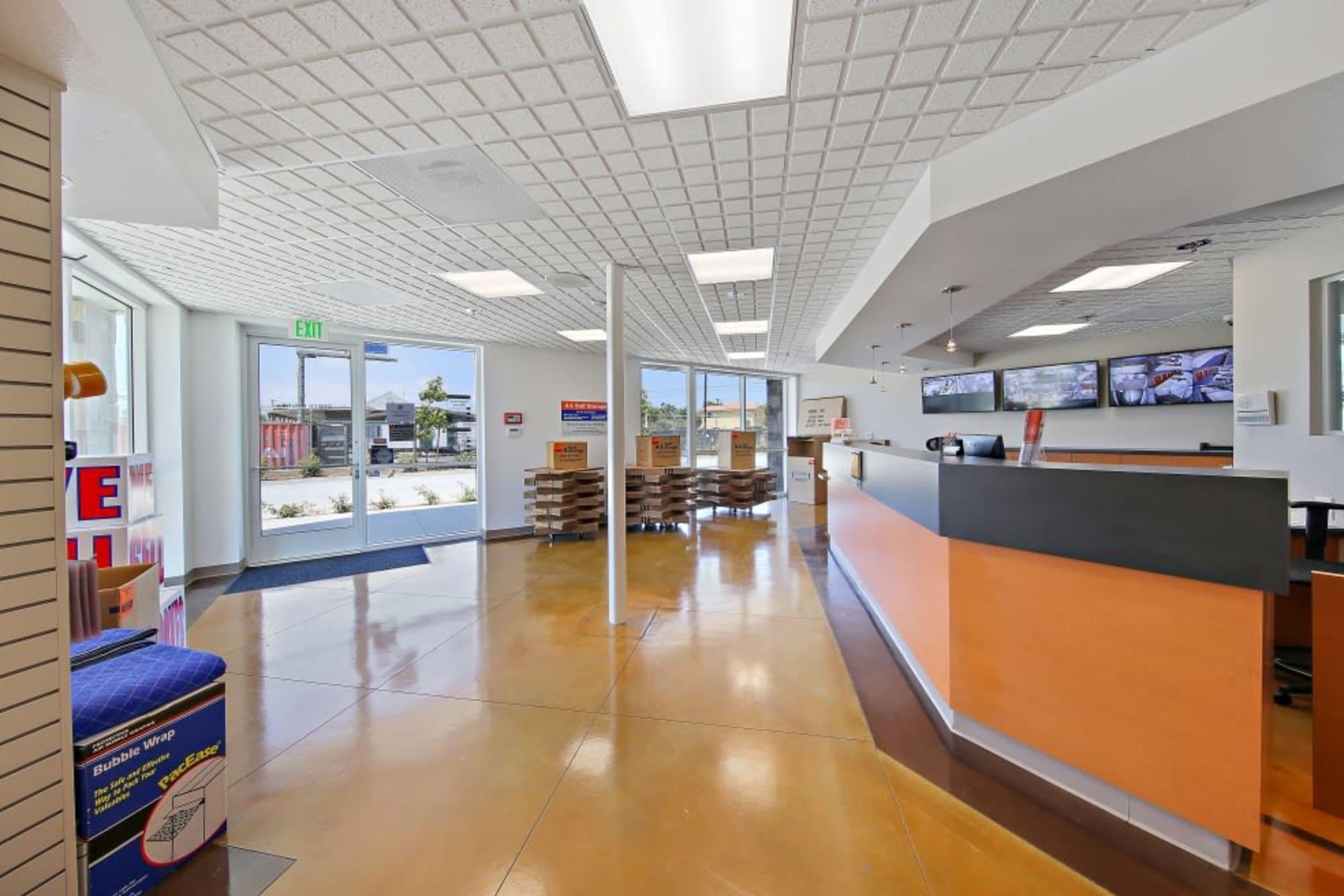 Customer service area at A-1 Self Storage in San Diego, California