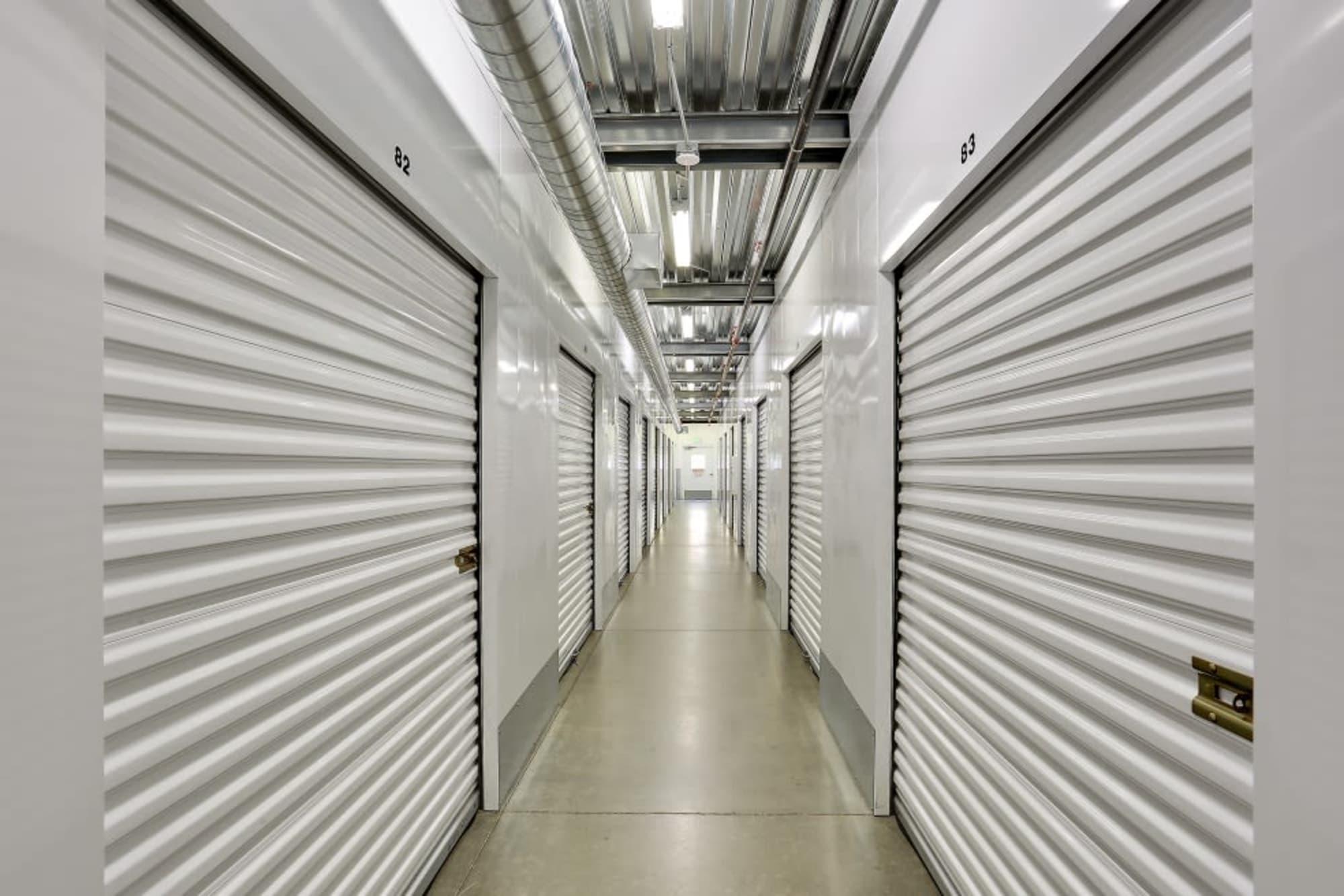 Interior self storage units atA-1 Self Storage in San Diego, CA
